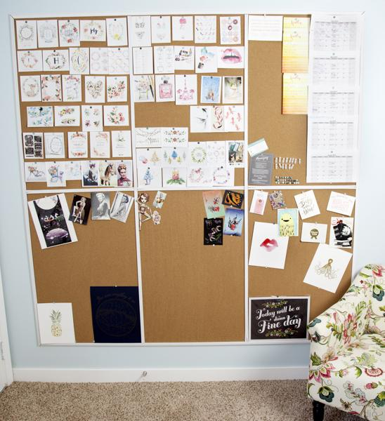 huge pin board for visual ideas