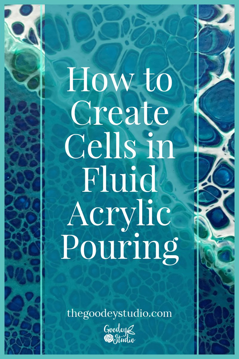 How to create cells in Fluid Acrylic Pouring