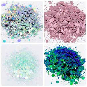 Glitter sample images